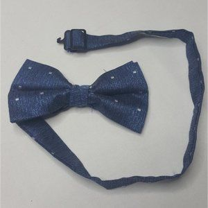 Bow Tie Blue White Chambray Clip Dress Tie G